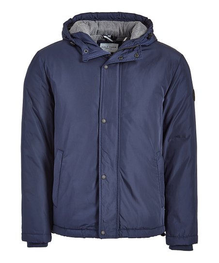 5f497f825 Cole Haan Navy Button-Front Hooded Jacket - Men