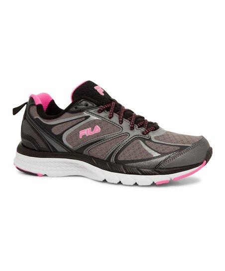 FILA Pink & Dark Silver Memory Stalemate Runnning Shoe Women
