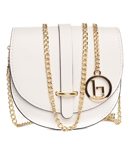 c1453cd7df2 love this product White Chain-Strap Fiora Leather Crossbody Bag