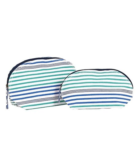 Rockflowerpaper Ocean Blue Stephanie Two Piece Cosmetic Bag