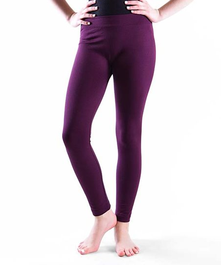 f712b639513b0 Dinamit Jeans Aubergine Fleece-Lined Leggings - Girls | Zulily