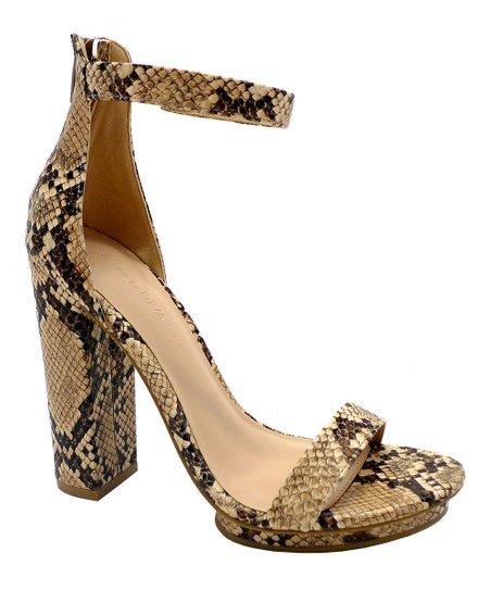 Wild Diva Natural Snake Pace Ankle-Strap Sandal - Women