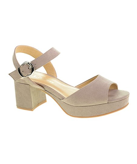b5f6aa966be5 love this product Pebble Taupe Kensie Super Suede Sandal - Women