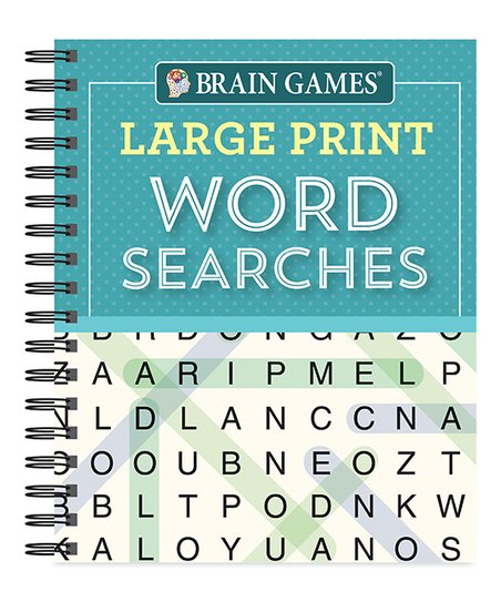 photo about Large Printable Word Search referred to as Mind Video games Teal Weighty Print Phrase Lookups Spiral-Sure Reserve