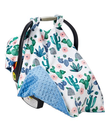 Lolly Gags Cactus Bloom & Bluebell Cacti Car Seat Canopy