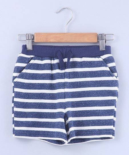e07a6a0bdaf4 love this product Blue & White Stripe Pocket Tie-Waist Shorts - Newborn,  Infant, Toddler & Boys