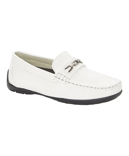 377fb8e78e2 love this product White Uptown Buckle-Accent Loafer - Boys