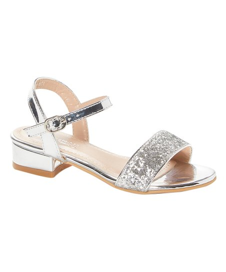 Easy Strider Silver Sparkle Sandal Girls