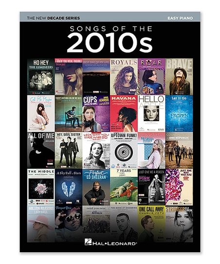 Hal Leonard Songs of the 2010s Easy Piano Sheet Music