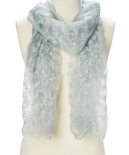 1d82c4c6c love this product Silver Textured Sheer Scarf - Women