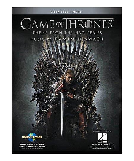 Hal Leonard Game of Thrones Viola & Piano Accompaniment Sheet Music  Paperback