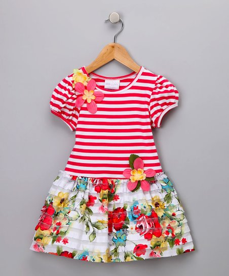 2a2f8cc320 love this product Coral Stripe   Floral Dress - Infant   Toddler