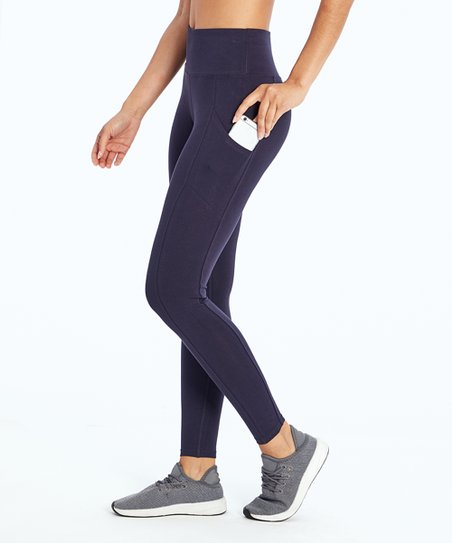 9e79d622b9be2 love this product Blue Pocket Tummy-Control High-Waist Leggings - Women