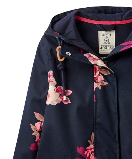 Joules Coast Printed Womens Jacket Marine Navy Bircham Bloom All Sizes