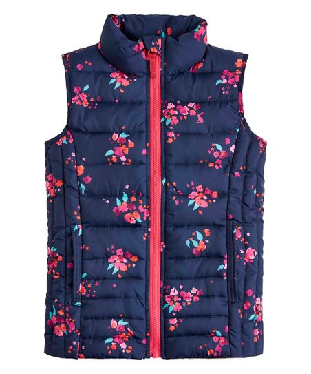 9f52283e3 love this product Navy Inky Ditsy Croft Packable Puffer Vest - Toddler &  Girls
