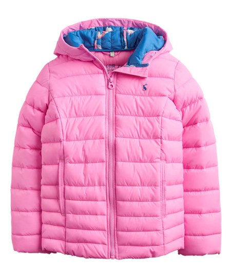 7dd3acc82 Joules Light Pink Kinnaird Packable Hooded Puffer Coat - Infant ...