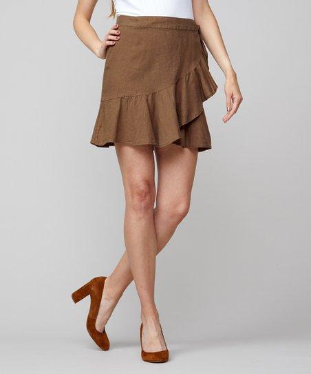 b11b29aa1386 Free People Olive Ruffle My Feathers Mini Skirt - Women | Zulily