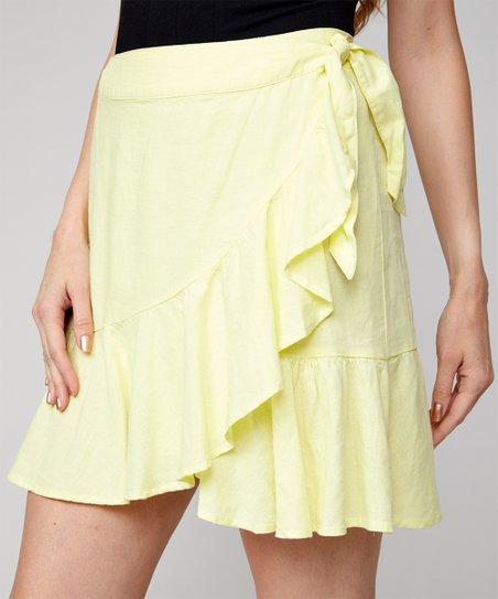 81ecbe9363c3 Free People Yellow Ruffle My Feathers Mini Skirt - Women | Zulily