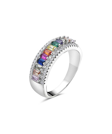 e04ce6035 love this product Pink & Blue Emerald-Cut Band With Swarovski® Crystals