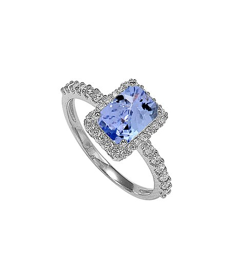 53745b999 love this product Blue & Sterling Silver Emerald-Cut RingWith Swarovski®  Crystals