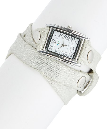 1bb6dd9b076 love this product Tinsel Sparkle Stud-Accent Tri-Wrap Leather-Strap Watch