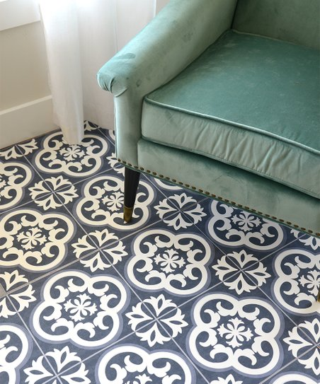 Flooradorn Vintage Tiles 24 Pack Self Adhesive Vinyl Floor