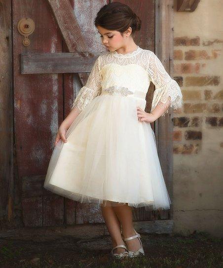 cozy fresh fashion design find workmanship Trish Scully Child Ivory Ava Dress - Toddler