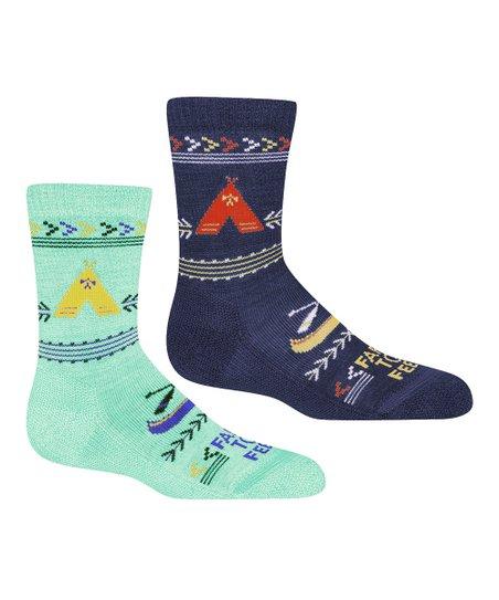 d6071c4063 Farm to Feet Neptune & Eclipse Camp Merino Wool-Blend Crew Socks ...