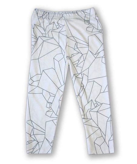 b9f36d0d4b love this product White Geometric Organic Cotton Leggings - Infant, Toddler  & Girls