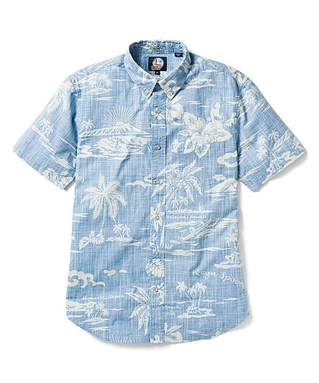 3fd7a89b reyn spooner Denim My Private Isle Tailored Aloha Button-Up - Men ...