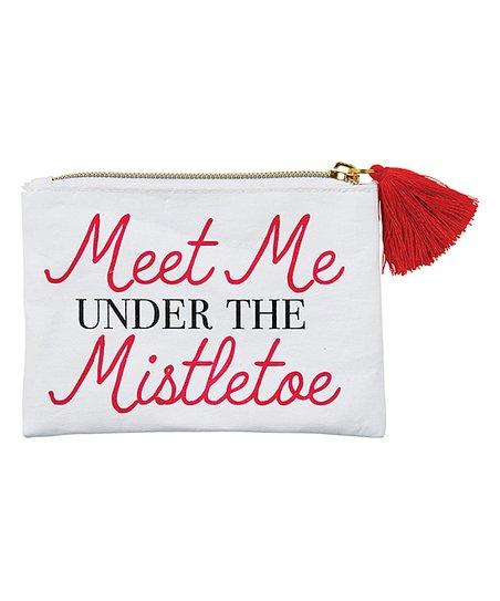 Santa Barbara Design Studio White & Red 'Mistletoe' Lips Coin Purse
