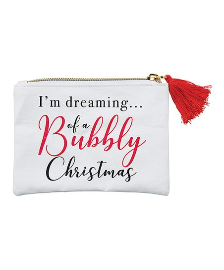 Santa Barbara Design Studio White & Red 'Bubbly' Champagne Coin Purse