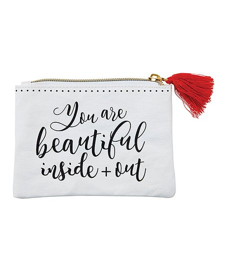 Santa Barbara Design Studio White & Red 'Beautiful' Perfume Coin Purse