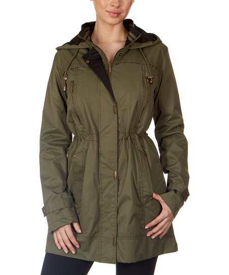 8fef10933563 love this product Olive & Black Hooded Anorak - Women & Plus