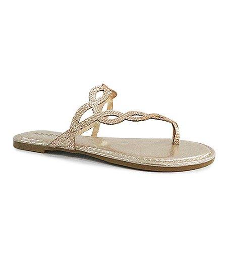 b5f7fee7fa96 love this product Rose Gold Twist Criss-Cross Aveno Sandal - Women