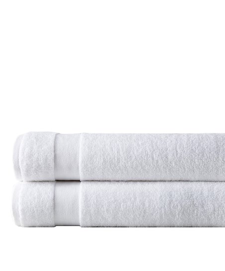Southshore Fine Linens White Southshore Two Piece Bath Towel Set