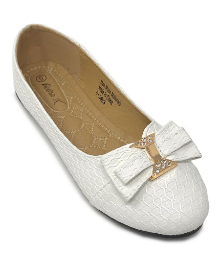 17ce60214 love this product White Jewel-Accent Bow Ballet Flat - Women