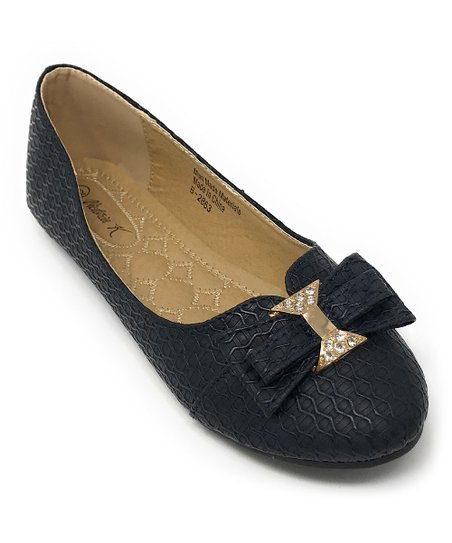 fdbc9204b love this product Navy Jewel-Accent Bow Ballet Flat - Women