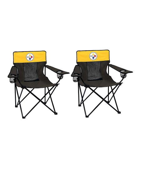 Pleasant Logo Brands Pittsburgh Steelers Elite Chair Set Of Two Uwap Interior Chair Design Uwaporg