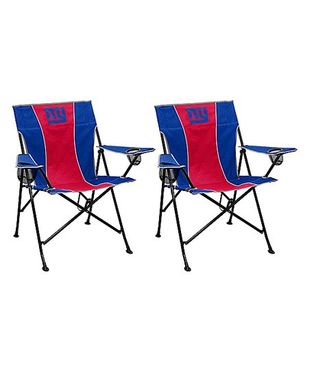 Terrific Logo Brands New York Giants Pregame Chair Set Of Two Zulily Ocoug Best Dining Table And Chair Ideas Images Ocougorg