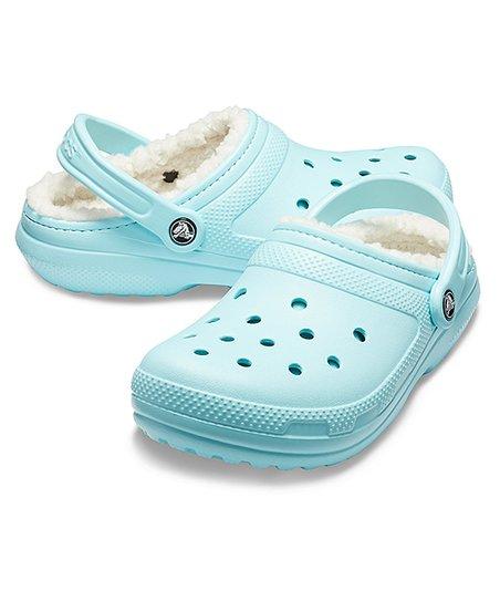 Crocs Ice Blue \u0026 Oatmeal Classic Lined