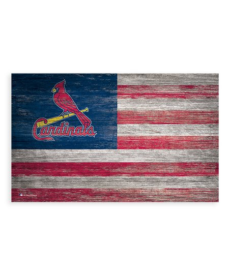 Fan Creations St Louis Cardinals Distressed Flag Wall Art Zulily
