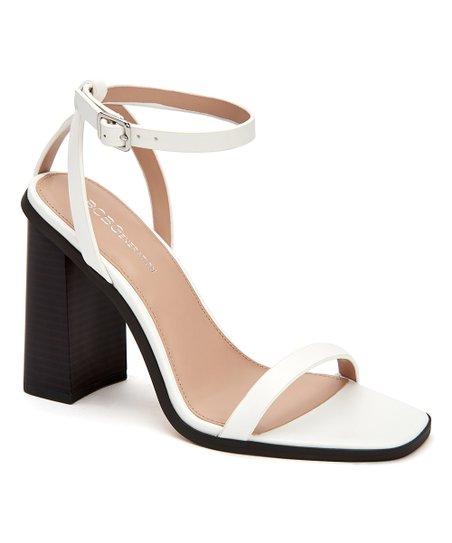 0172ec0dd62 love this product White Ivory Square-Toe Heeled Sandal - Women