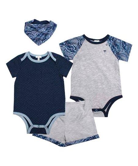 8f1d9bac070a Tahari Baby Navy & Blue Waves Bodysuit Set - Newborn & Infant | Zulily