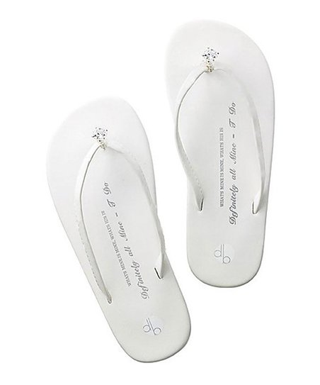 7eb60aab8 love this product White Wedding Diamond Ring Flat Flip-Flop - Women