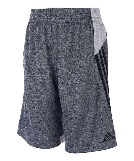 c36cb078c love this product Black & White Side-Stripe Melange Mesh-Accent Shorts -  Boys