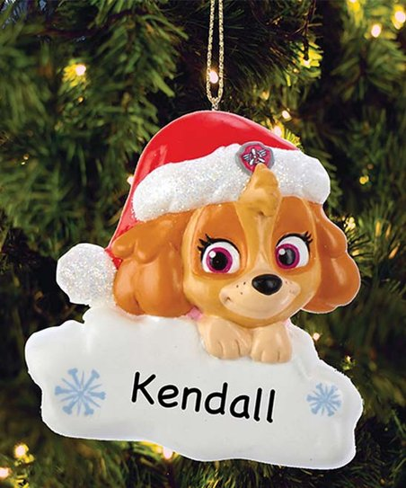 Paw Patrol Christmas Ornaments Personalized.Personalized Planet Paw Patrol Skye With Santa Hat Personalized Ornament