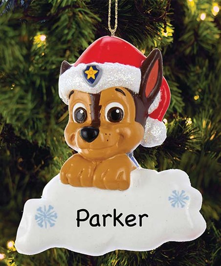Paw Patrol Christmas Ornaments Personalized.Personalized Planet Paw Patrol Chase With Santa Hat Personalized Ornament