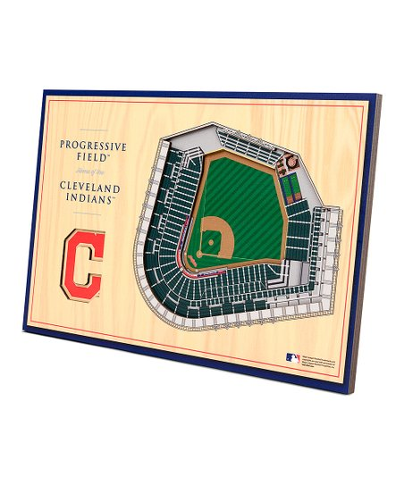 sports shoes 1f967 910e3 MLB Cleveland Indians 3D Stadium Replica Tabletop Display
