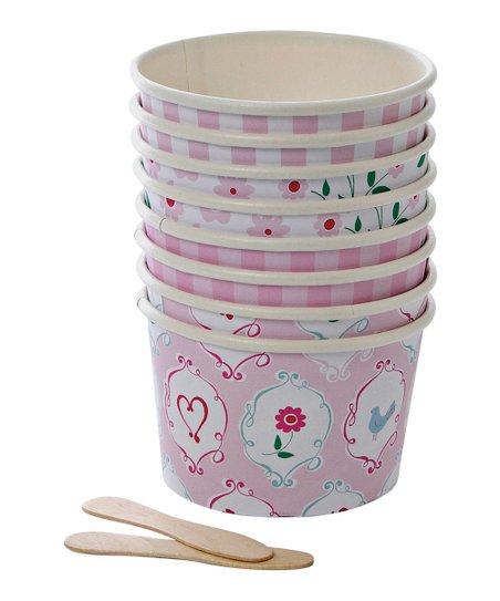Meri Meri Im A Princess Ice Cream Cup Spoon Set Of 16